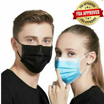 50PCS Disposable Face Mask Surgical Medical Dental Anti Disease Industrial 3-Ply