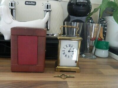 Carriage Clock In Case With Key Working Spares Repair