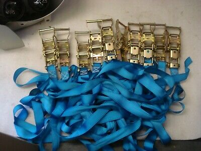 Heavy Duty Ratchet Straps  10 off 2.5m long, 35mm wide. 400kg. Used once