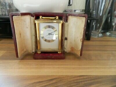 Cased Traveling Style Carriage Clock Of Small Form Working Needs Restoration