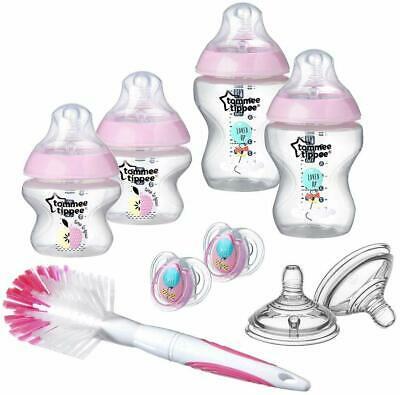 Tommee Tippee Closer to Nature New-born Baby Bottle Starter Set, Pink (Assort...