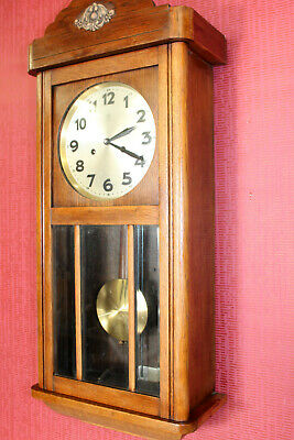 Antique Wall Clock Chime Clock Regulator 1920th century*JUNGHANS*