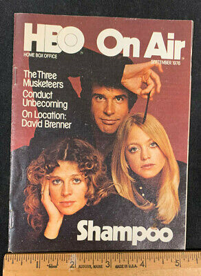 1976 September *Shampoo* Hbo Home Box Office Movie Guide Booklet (As) M