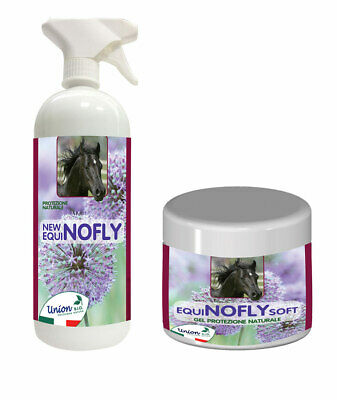 SET NEW EQUI NO FLY FOR INSECTS: 1 spray para el cuerpo + 1 gel para las partes