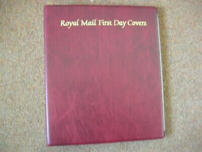 Red Royal Mail First Day Cover Album Blue 4 Ring With 15 Leaves