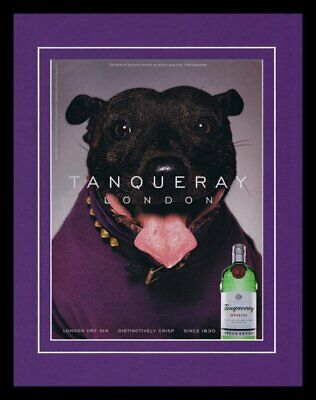 1999 Tanqueray Gin 11x14 Framed ORIGINAL Vintage Advertisement