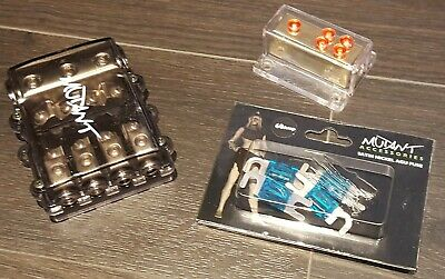 Mutant 4 Way Fused Power Distribution Block, 60A Fuses & Gold 4 Way Earth Block