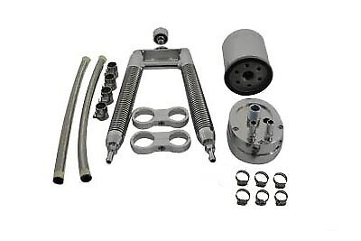 Oil Cooler Kit Dual Tube Vertical Type for Harley Davidson Softail