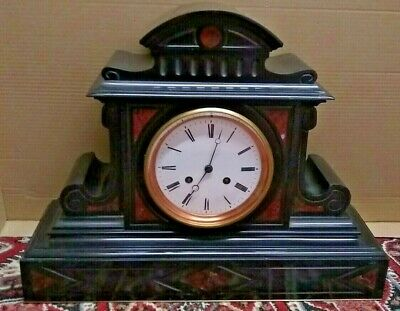 Gigantic and Outstanding Marble & Slate French Striking Clock!