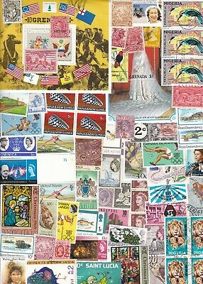 British Commonwealth Collection/Accumulation 1500++ Stamps Unsorted