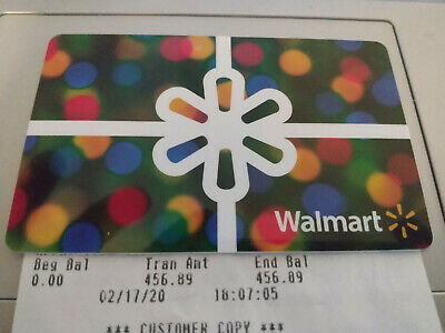 $456.89 Walmart Gift Card - DISCOUNT! FAST SAME BUSINESS DAY SHIPPING!