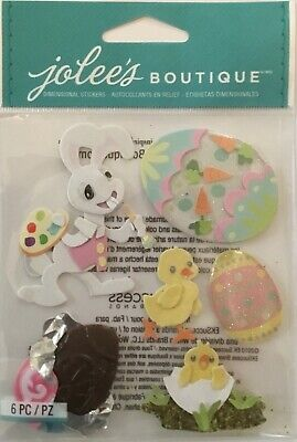 Easter Bunny & Chicks ~ Dimensional Stickers ~ Jolee's Boutique