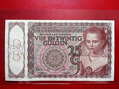 1943 Netherlands 25 Gulden