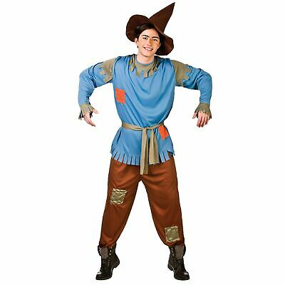 Adults Mens Scarecrow Straw Man Fancy Dress Up Party Halloween Costume Outfit
