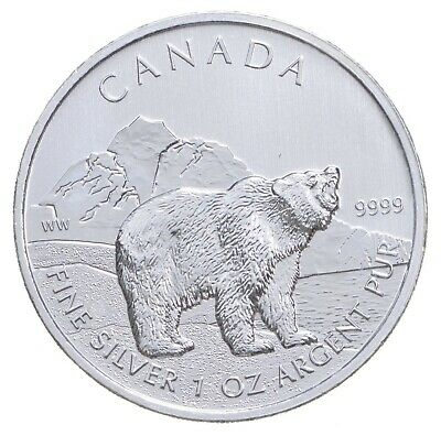 2011 1 oz Canada Silver Polar Bear $5 Coin .9999 Fine Brilliant UNC *173