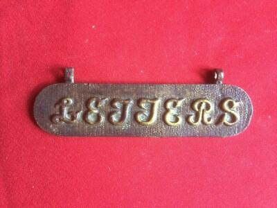 Antique Brass Letter Box Flap