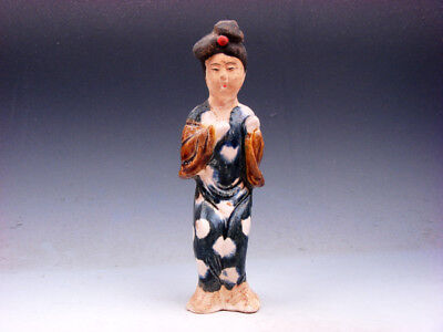 Vintage SANCAI Pottery Hand Crafted Ancient Chinese Palace Lady #01051903