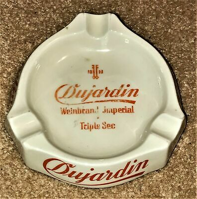 1818 Dujardin Weinbrand Imperial Triple Sec Porcelain Advertising Ash Tray