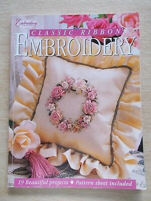 Classic Ribbon Embroidery~Craftworld Books~19 Projects~96pp P/B~2000