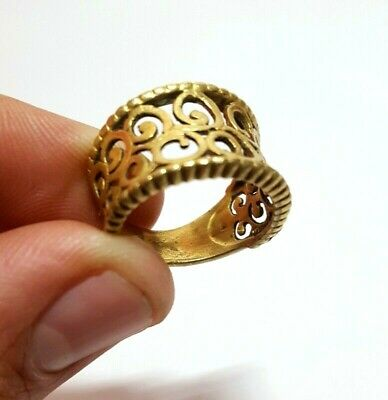 Ancient Bronze Ring Roman Rare Legionary Artifact Authentic Extremely Old Size 9