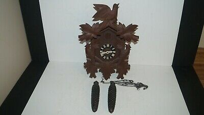 Vintage Wall Hanging Wood Cuckoo Clock Made In West Germany