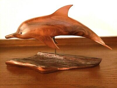 Carved Wooden Dolphin from Pacific Carvings by Terry J Woodall