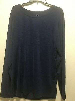 Old Navy Active Go-Dry Women's Long Sleeve Running Shirt Navy Blue Size 2XL