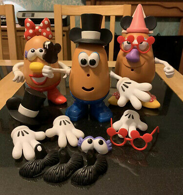 Disney Mr & Mrs Potato Head Bundle Mickey Mouse Minnie Mouse With Accessories