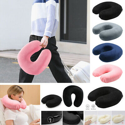 Color Memory Foam U-shaped Travel  Pillow Neck Support Head Pillow US