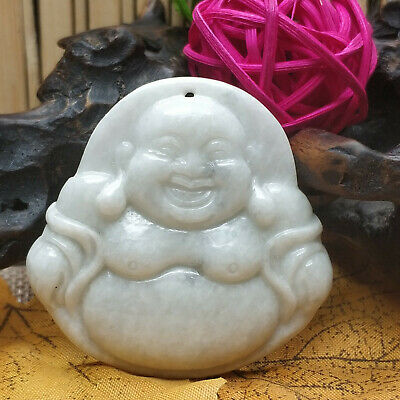AAAAA Chinese Hand-carved aristocratic wearing Jadeite jade pendant Buddha