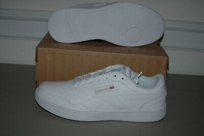 New REEBOK CLUB MT CLASSIC - Mens Size 7.5 Wide All White Sneakers Shoes