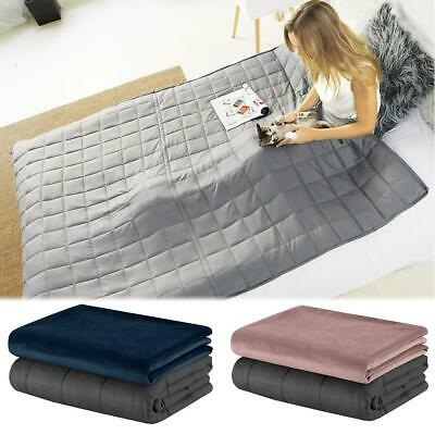 Premium Soft Weighted Blanket Adults Kids Gravity Heavy Gravity