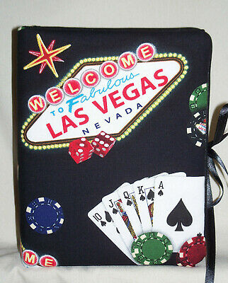 "Las Vegas Nevada Handcrafted Photo Album 5 1/2""X7"" Holds 80 4""X6"" - NEW Black"