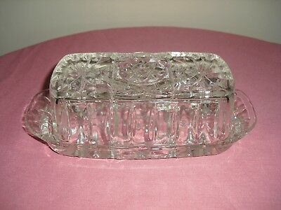 Star of David BUTTER DISH  ~ Anchor Hocking EAPC ~ VINTAGE Pressed Glass