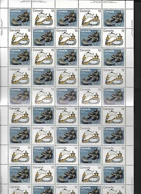 pk48302:Stamps-CANADA #749a Inuit Hunting 50 x 12 cent Sheet - MNH