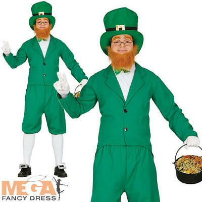 Carry Me Leprechaun Adults Fancy Dress St Patricks Day Irish Mens Costume Outfit
