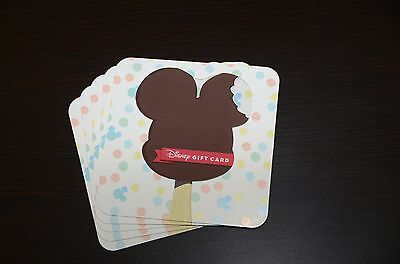 2017 Disney World Gift Card Mickey Mouse Ice Cream Bar Sweet Cool No Cash Value