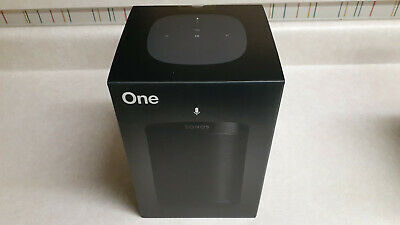 Sonos One (Gen 2) Black Voice Controlled Smart Speaker, New Sealed Item