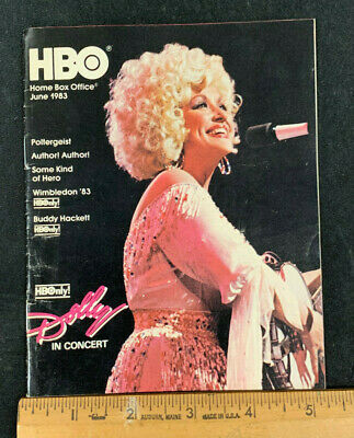 1983 June *Dolly Patron/Rocky Iii* Hbo Home Box Office Movie Guide Booklet (As)