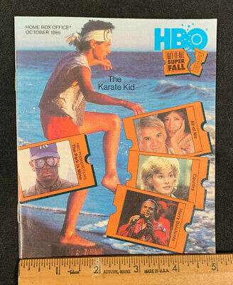 1985 October *The Karate Kid* Hbo Home Box Office Movie Guide Booklet (As)