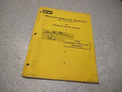SEARS SS/16 Twin 917.25950 ONAN BF MS ENGINE GARDEN TRACTOR SERVICE PARTS MANUAL