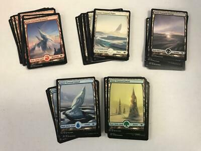 MTG MODERN HORIZONS x10x Each Snow Covered Full Art Basic Lands (50 total)