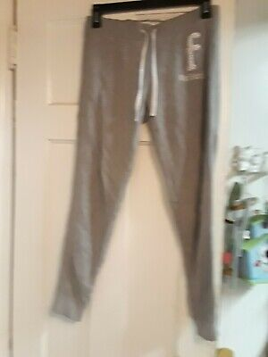 ABERCROMBIE & FITCH KIDS GRAY ATHLETIC SWEAT PANTS GIRLS Size L LARGE PEARL AF