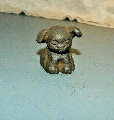 """Griswold """"Pup"""" Puppy Dog Cast Iron Paperweight Novelty Promo Advertising"""
