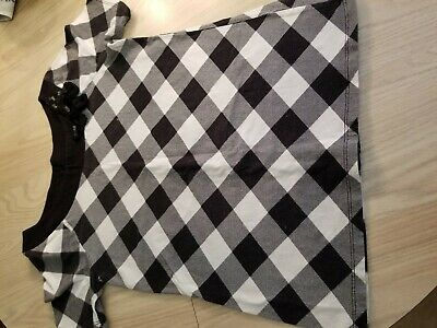 Girls SS Top JUSTICE Size 14 Black and White