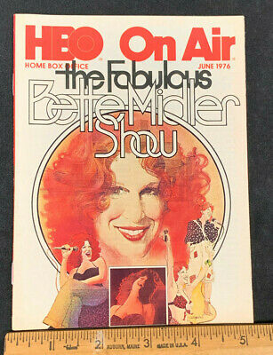 1976 June *Bette Midler Show* Hbo Home Box Office Movie Guide (As) Never Used! M