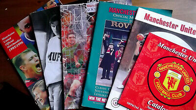 6 copies  MANCHESTER UNITED OFFICIAL MERCHANDISE CATALOGUES.  1994-1997