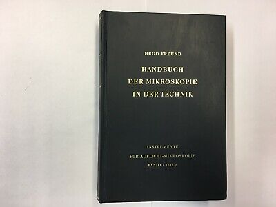 Historisches Mikroskop Buch 1960 / Band 1 / Teil 2   historical microscope book