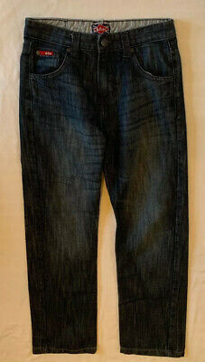 Lee Cooper Jeans Age 11-12 Years In Blue Straight Leg Zip Fly