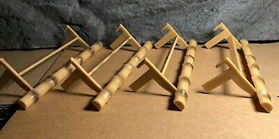 4 Lot | Plastic Perches for Bird Cage | Tan | Old Stock | Never Used